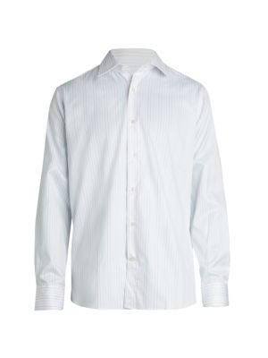 Saks Fifth Avenue COLLECTION Multi-Striped Button-Front Shirt