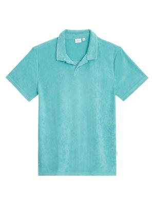 Onia Shaun Towel Terry Polo Shirt