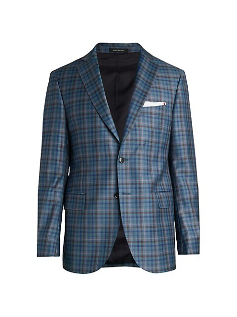 COLLECTION Multi-Plaid Sportcoat