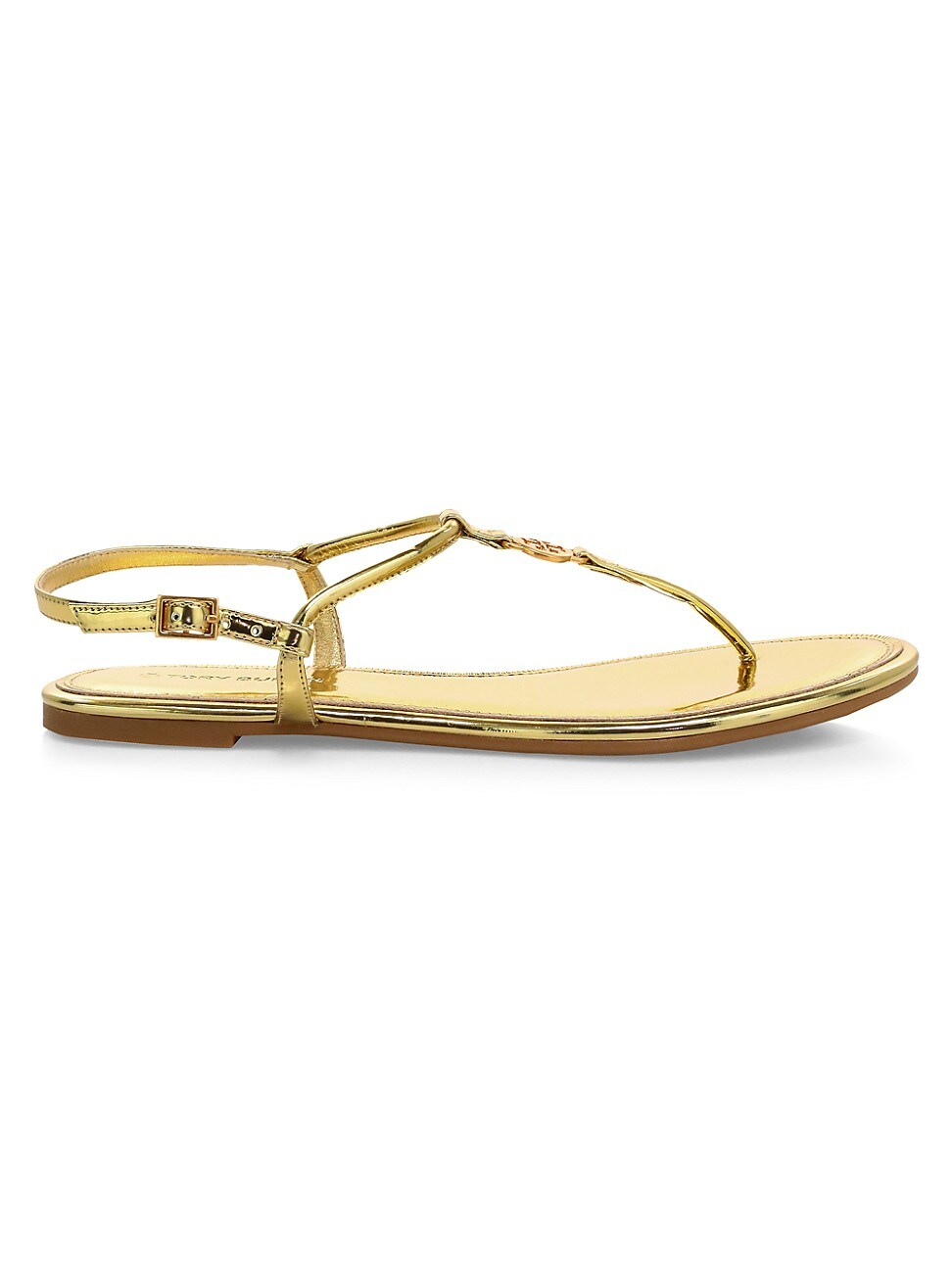 Tory Burch WOMEN'S EMMY METALLIC THONG SANDALS