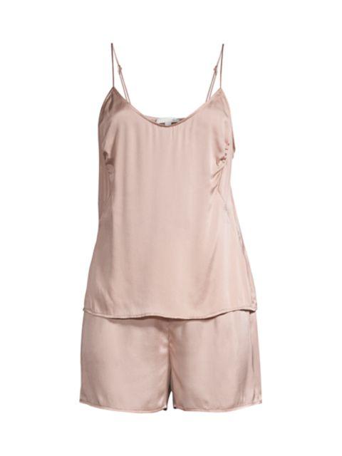 Skin 2-Piece Short Silk-Blend Pajama Set | SaksFifthAvenue