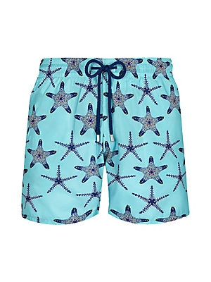 WWT Wolf and Owl Mens Printed Beach Shorts with Mesh Lining//Side Pockets
