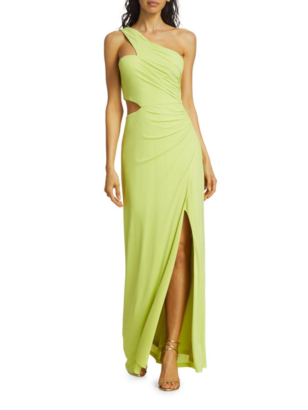 BCBGMAXAZRIA Cutout One-Shoulder Gown | SaksFifthAvenue