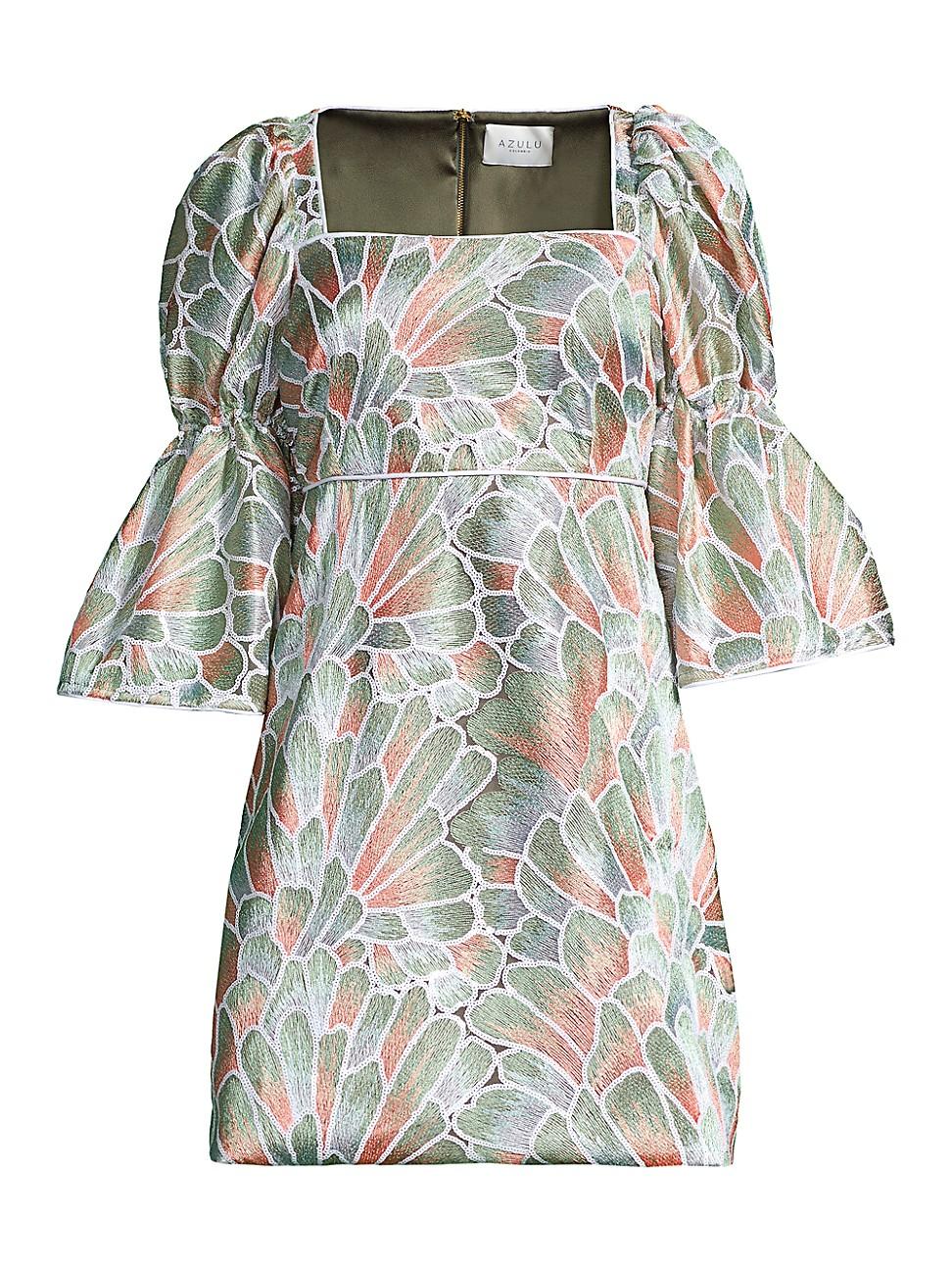 Azulu WOMEN'S PUFF WIDE-SLEEVE DRESS
