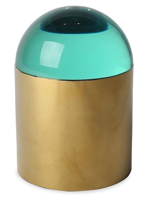 Globo Acrylic & Brass Ice Bucket