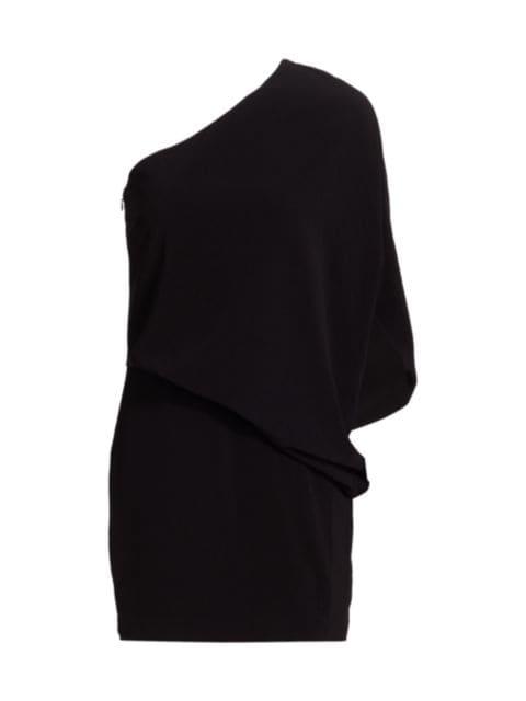 Halston Kai One-Shoulder Mini Dress   SaksFifthAvenue