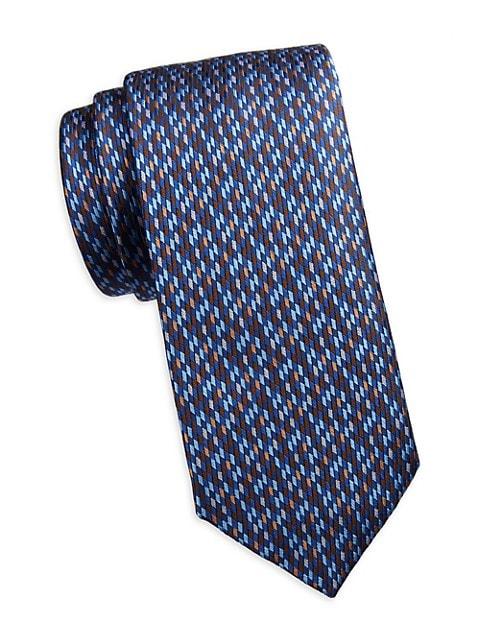 COLLECTION Diagonal Grid Silk Tie