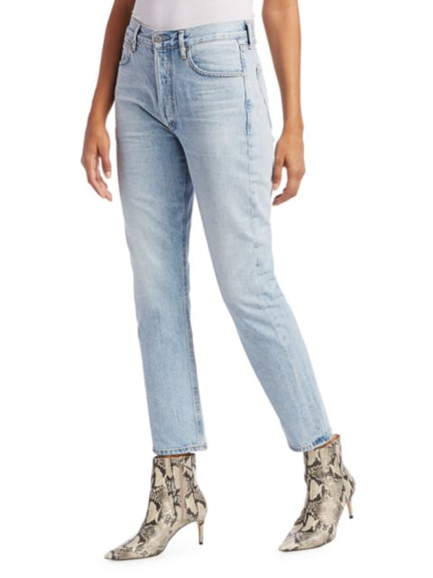 Citizens of Humanity Charlotte High-Rise Straight Jeans | SaksFifthAvenue