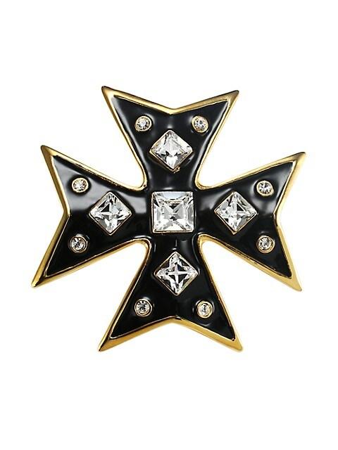 Cross 22K Goldplated Pin
