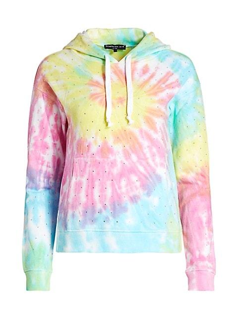 Crystal Rainbow Tie-Dye Hoodie