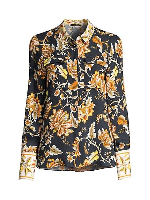 Alisa Floral Silk Blouse