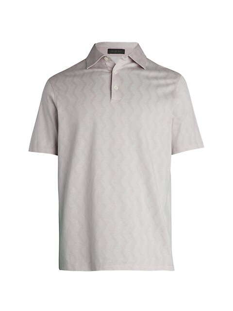COLLECTION Short-Sleeve Zigzag Polo