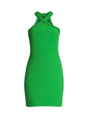 Trina Turk Magical Twist Mini Dress In Mojito