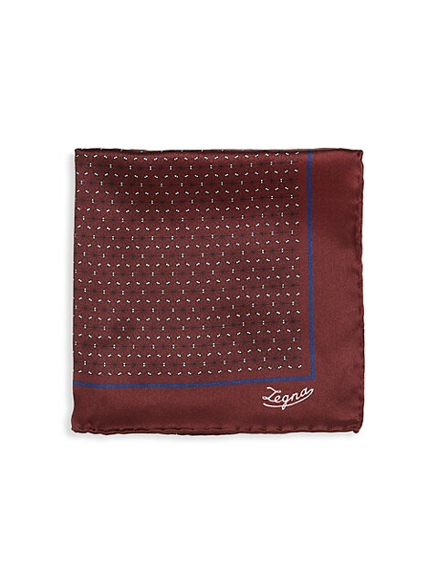 Floral Neat Silk Pocket Square