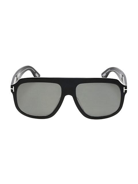 58MM Square Plastic Sunglasses