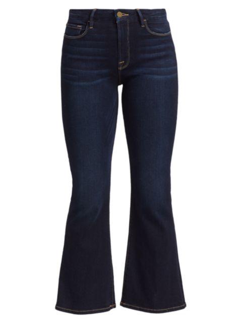 Frame Le Crop Mid-Rise Bootcut Jeans | SaksFifthAvenue