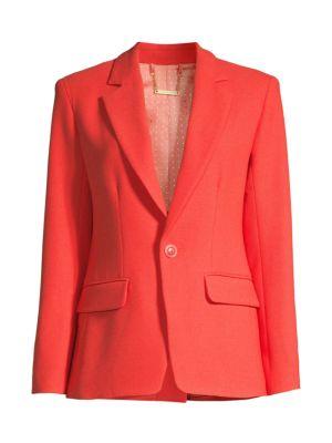 Trina Turk Women's Pistache Twill Blazer In Red Hot