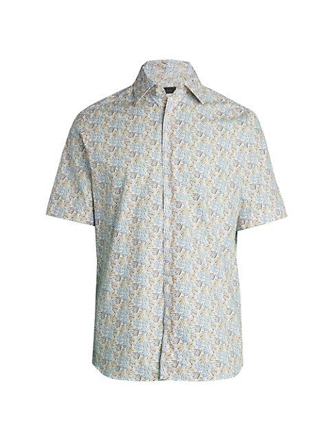 COLLECTION Abstract Short-Sleeve Button-Down Shirt
