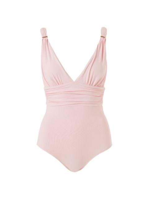 Melissa Odabash Panarea V-Neck One-Piece Swimsuit | SaksFifthAvenue