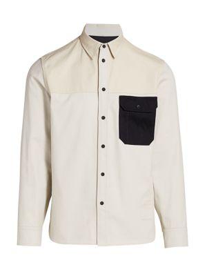 Rag & Bone Men's Franklin Chore Shirt In White