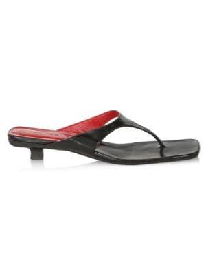Thong Sandals With Kitten Heels