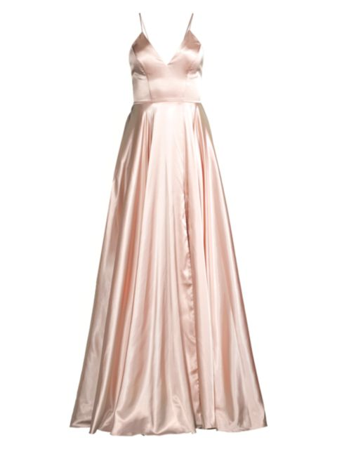 Faviana Charmeuse Lace-Up Gown   SaksFifthAvenue