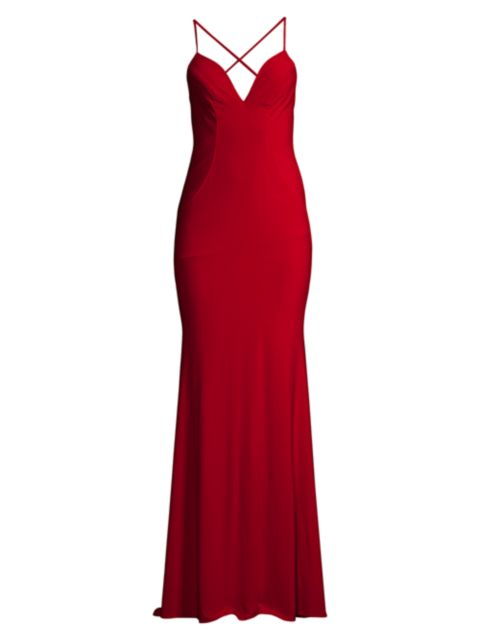 Faviana Jersey Twist-Back Gown | SaksFifthAvenue