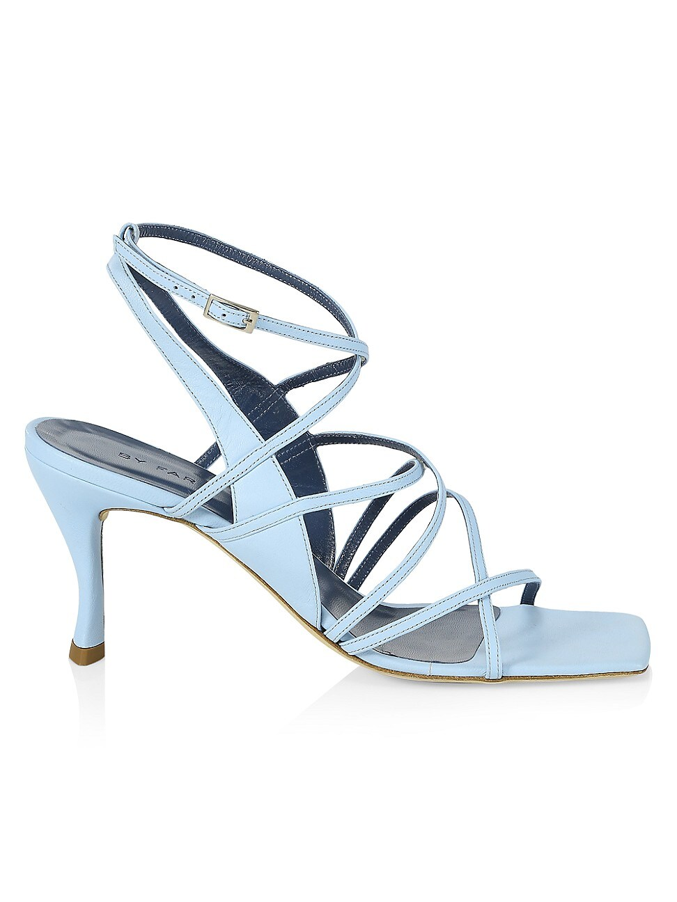 BY FAR WOMEN'S CHRISTINA STRAPPY LEATHER SANDALS