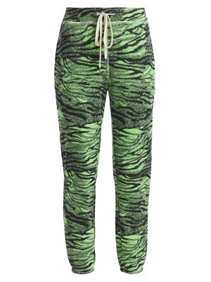 N:philanthropy Night Tiger Joggers In Iced Lime Tiger