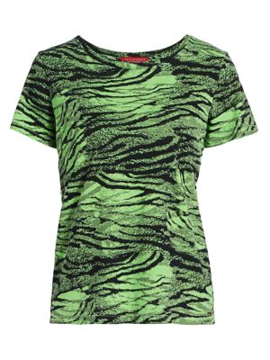 N:philanthropy Jigsaw Tiger T-shirt In Iced Lime Tiger