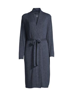 Yummie Women's Stonewash Tie-waist Midi Robe In Indigo