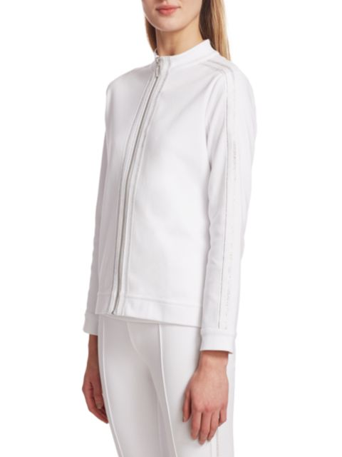 Joan Vass Sparkle Zip Jacket | SaksFifthAvenue