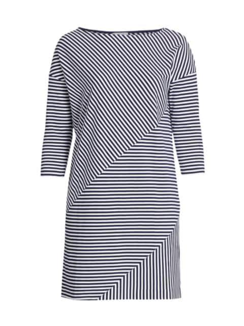 Joan Vass, Plus Size Striped Contrast Dress   SaksFifthAvenue