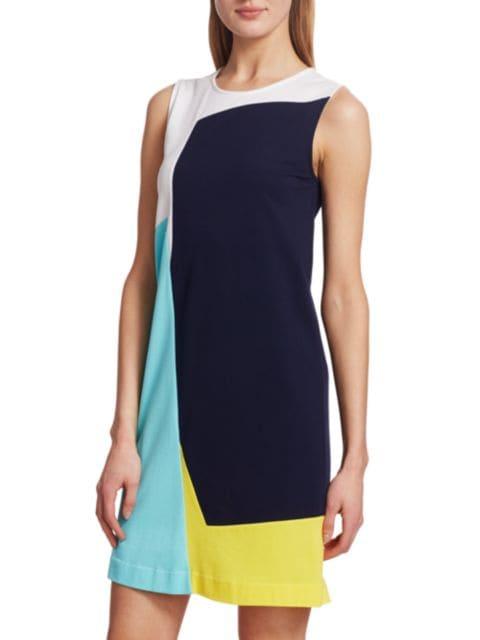 Joan Vass Sleeveless Colorblock Dress | SaksFifthAvenue