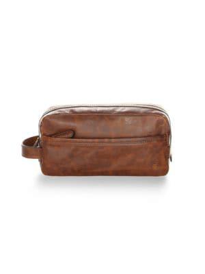Frye Men's Logan Leather Toiletry Bag In Cognac