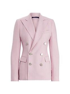 Simon Jersey Ladies Three Button Wool Mix Jacket Black
