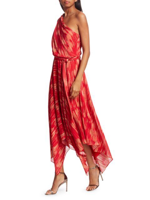 Halston Printed Braided Strap Gown | SaksFifthAvenue