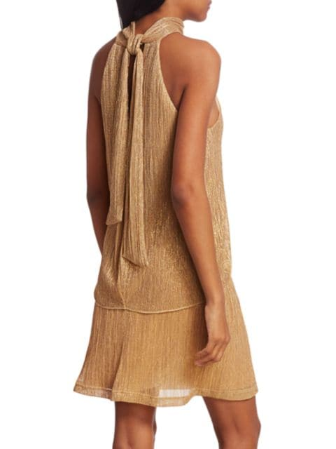 Halston Tie Mockneck Dress | SaksFifthAvenue