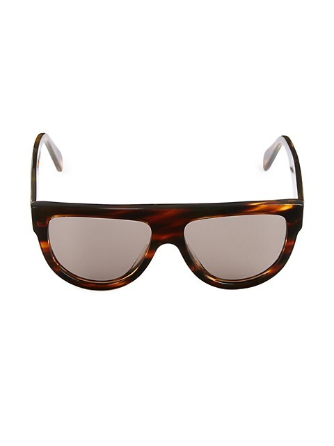 58MM Flat Top Pilot Sunglasses