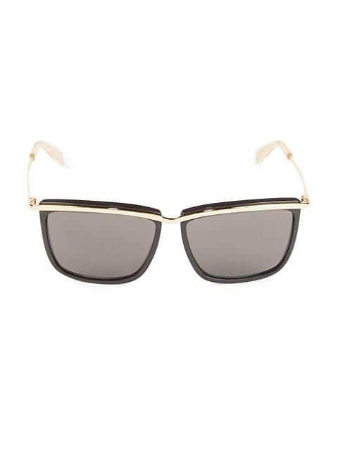 59MM Metal Square Sunglasses