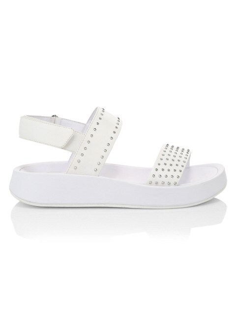 Ash Vivi Studded Leather Sport Sandals