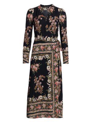 Etro Hirzai Floral Wrap Midi Dress