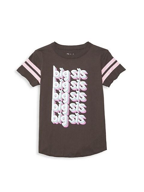 Girl's Big Sis Jersey T-Shirt