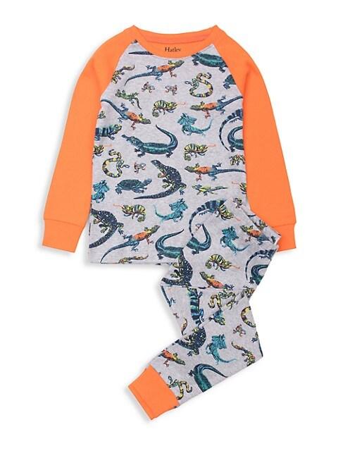 Hatley Little Boys & Boyss 2-Piece Rambunctious Reptiles Organic Cotton Pajama Set