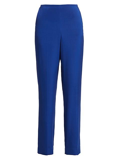 Stretch-Silk Crepe De Chine Pants