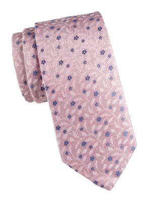 Eton Men's Floral Silk Tie In Pink