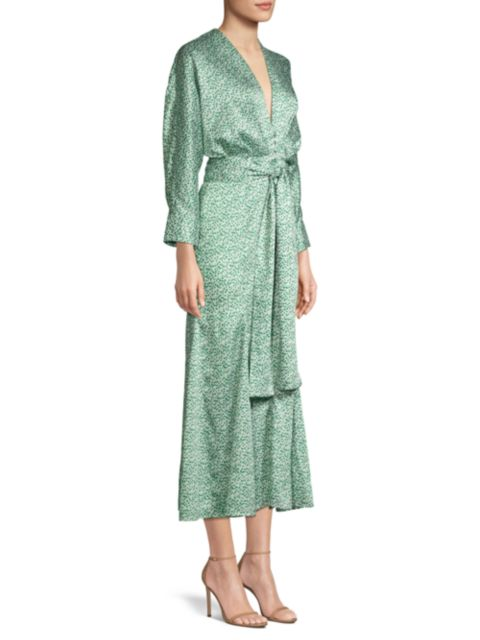 Significant Other Lexi Spotted Satin Dress | SaksFifthAvenue