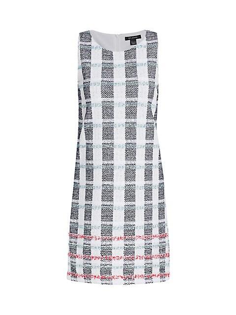 Striped Tweed Shift Dress