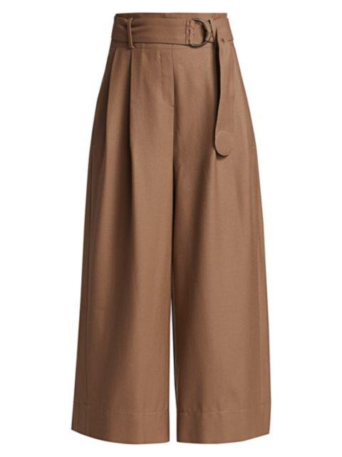Akris punto Fiorella Flannel Wool Pants   SaksFifthAvenue