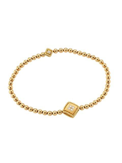 Palazzo Ducale 18K Yellow Gold & Diamond Station Stretch Bracelet
